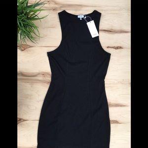 TOBI woman's black fitted dress NWT